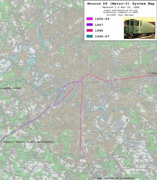 Схема секретных линий метро